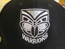 NRL NEW ZEALAND WARRIORS CAP black logo with tags -NEW!