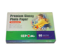 "SEPOMS High Glossy Finish 4"" x 6"" Premium Photo Paper 60 Sheets 5 ¢ per sheet"