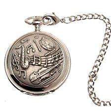 Reloj de bolsillo musical cazador de doble movimiento mecánico 43
