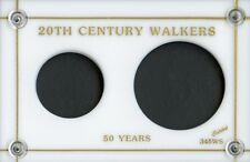 """Capital Plastic 3"""" x 4.5"""" 2-Coin Holder 20th Century Walkers - White"""