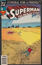 SUPERMAN THE MAN OF STEEL FUNERAL FOR A FRIEND/3 #21 VF  JUSTICE LEAGUE  APP