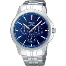 Pulsar Multi Blue Dial Stainless Steel Bracelet Mens Watch PP6011