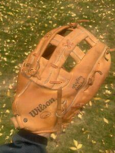 "Rare Wilson A9815 Leather Baseball Softball Glove Right Hand RHT Huge 13.5"""