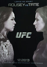Ronda Rousey vs Tate RARE UFC 168 Official Las Vegas Fight Program December 2013