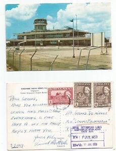 SINGAPORE 1959 RPPC Youth Sports Club,Singapore, sent to Hong Kong @ 25c rate