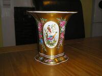"Fine Dresden Continetal Porcelain Gilt CENTERPIECE ""Exotic Birds"" & ""Roses"""