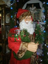 ANIMATED 5 foot SANTA'S ELF w LIGHTED TREE / MUSICAL LIFE SIZE CHRISTMAS * RARE
