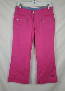 Athleta Women's Pink Flare Cropped Pants sz 6