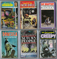 TALES OF THE INCREDIBLE, VAULT OF HORROR, BEST OF CREEPY 6 BOOKS 1965 BALLANTINE