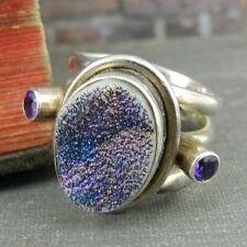 Nicky Butler Purple Druzy Sterling Silver Ring - Size 6