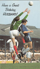 Happy Birthday Husband 1960's Vintage Chelsea FC Peter Osgood Greeting Card ~
