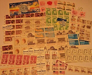 Unused 100 Assorted Mixed Multiples & Singles of 18¢ US Postage Stamps FV $18.00