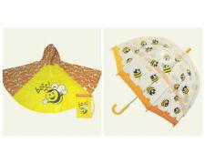 Umbrella & Poncho Raincoat Bugzz - Bee - Child sized Orange  - Clifton Kids  AU