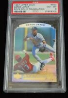 PSA Graded 8 NM-MT 1997 Upper Deck Derek Jeter Baseball Card
