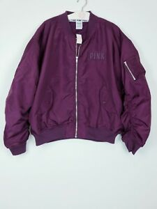 Victoria/'s Secret Pink Jacket Bomber Coat Casual Outerwear Bomber Logo New Nwt