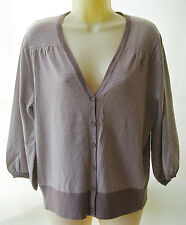 Savannah taupe & cream striped cardigan ~ Size 14 ~ BNWT