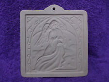 Brown Bag Paper Art Angel With Horn Card Ceramic Cookie Mold 1994
