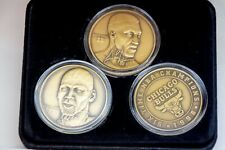 Michael Jordan Highland Mint Solid Bronze 3 Coin Set - 574 of 1998 Pippen & Cham