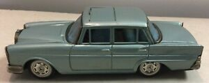 Vintage Bandai Tin Friction Car Mercedes Benz 220 With Sunroof Japan Works