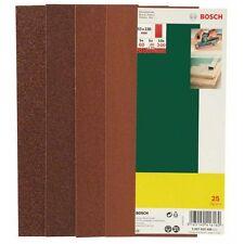 BOSCH Schleifblatt-Set f. Schwingschleifer,25-tlg.,93x230mm (ungelocht),60-240