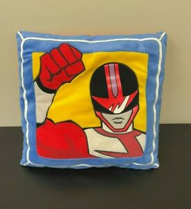 """Vintage Power Rangers Time Force Red Ranger 14.5"""" Decorative Stuffed Pillow"""