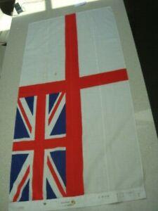 Royal Navy Marines white ensign vintage original British naval flag military c71