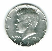 1966  Philadelphia Uncirculated Silver Strike JFK Half Dollar Coin!