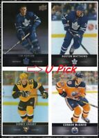 2019-20 UD Tim Hortons Hockey Base - U PICK Flat Ship - 33c/Card SEE DESCRIPTION