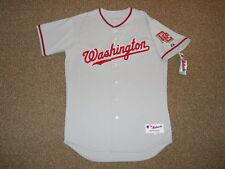 Washington Nationals Grey Away Blank Authentic Jersey sz 48 Majestic New Mens DC