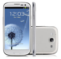 "Unlocked Blanco 4.8"" Samsung Galaxy S3 I9300 3G Androide 16GB 8MP Teléfono Móvil"