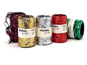 Metallic Raffia Band Coloured 100m / Rll Decorative Pack, Ribbon Raffia