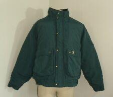 Mens CARHARTT EXTREMES Dark Green Quilt lined Nylon Bomber Parka Jacket 2XL