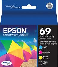 Genuine Epson 69 Black/Color Inks OEM for Stylus NX415 NX515 WF300 600 Printer