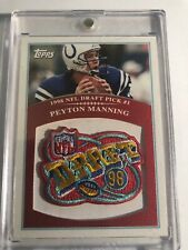 2009 Topps NFL Draft 98 Peyton Manning Colts Commemorative Patch Card #RR-PM