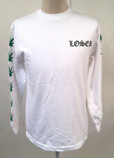 Loser Machine Men's LS T-Shirt Inglewood White Size M NEW Marijuana Pot Leaf
