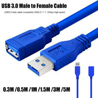 USB3.0 Data Cable Male To Female Sync Cord Super Speed Connector USB Extender-