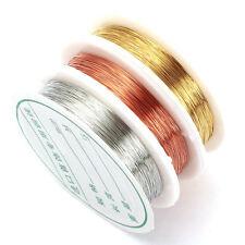 0.2 50M/Rollo de alambre a grano Hágalo usted mismo Pulsera Pendiente de plata de color de joyería haciendo
