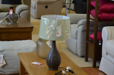 Healy Table Lamp Brown Cramic Base With Green Shade