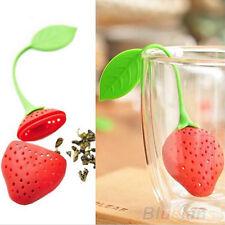 New Reusable Safe Food Strawberry Shaped Bag Holder Tea Coffee Punch Tea Infuser