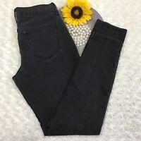 Old Navy Womens Diva Skinny Jeans Size 6 Short Stretch Black Denim cr793