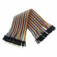 40pcs Dupont Cables MALE TO FMALE Jumper GPIO Breadboard Wire Ribbon Pi Arduino