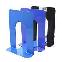 "2Pcs 6.7""L-Shaped Bookend Anti-skid Solid Metal Shelf Book Case Holder Home  Gc"