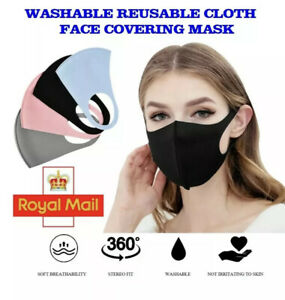 FACE MASK COVERING REUSABLE WASHABLE BREATHABLE 4 COLOURS ADULT UK SELLER