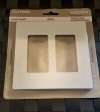 Lutron Claro 2 Gang Decorator Wallplate, Light Almond
