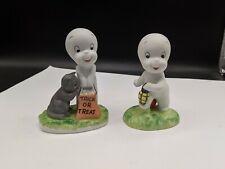 2 Casper the Friendly Ghost Halloween Ceramic Figure 1986 Harvey Pub Figurine!