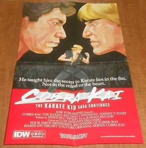 Two NYCC 2019 IDW Cobra Kai Karate Kid 2 Sided 11x17 Folded Poster