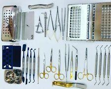 Dental Implant Surgery Kit Prf Box With Instruments Bone Regeneration Set Gauges