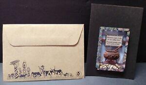 3-D Friendship Greeting Card Handmade in South Africa Clay Pot Rocks Blank Insid