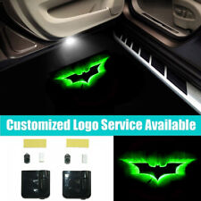 2x 3D LED Car Door Green Batman Logo Welcome Laser Projector Shadow Light