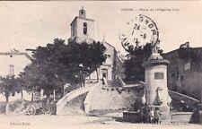 ORGON place de l'hôtel-de-ville éd ribet timbrée 1912